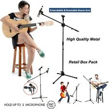Adjustable Microphone Stand Boom Arm Holder & Mic Clip Stage Studio party Tripod