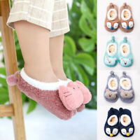 Baby Cartoon Cute Slipper Socks Boots Indoor Floor Socks Anti Slip Kids Toddler