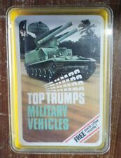 Top Trumps Military Vehicles Card Game Classic Vintage Collectors Item