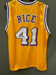 Glen Rice #41 Signed Lakers Basketball Jersey AUTO BAS WITNESSED HOLO Sz XL