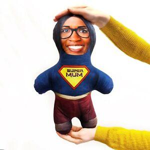 Super Mum - MINI ME Doll Custom Novelty Face Pillow - Add Your Photo