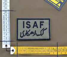 "Ricamata / Embroidered Patch ""ISAF"" Coyote Tan with VELCRO® brand hook"