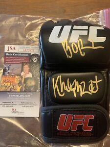 """Khamzat Chimaev """"Borz"""" Inscription Autographed Signed UFC Glove JSA COA"""