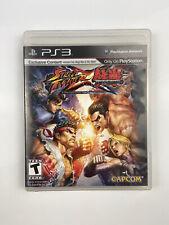 Street Fighter X Tekken (Sony PlayStation 3, 2012) PS3 Complete Capcom Free Ship