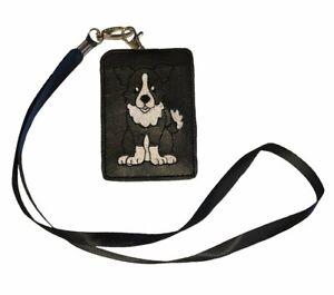Border Collie Dog ID Lanyard Wallet