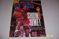1990 Sports Illustrated CHICAGO Bulls MICHAEL JORDAN No Label SHOW TIME No/Label