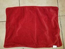 """Pottery Barn """"Red Velvet/Khaki Linen"""" Standard Pillow Sham"""