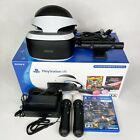 Playstation PS4 PS VR Bundle Headset 2 Motion Controllers Camera Processor Cords