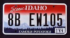 "IDAHO "" FAMOUS POTATOES - SCENIC - 8B EW105 "" 2014 ID Graphic License Plate"