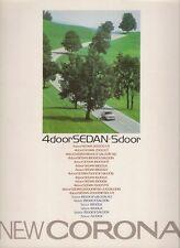 Toyota Corona 1986-87 Japanese Market JDM Sales Brochure 4-dr 5-dr Carina