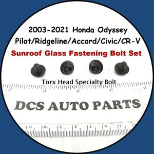 2011-2017 Honda Odyssey Sun Moon Roof Glass Sunroof Mounting Bolts (4) Fasteners