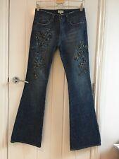 Karen Millen Womens Sequin Detailed Flared Jeans Size 8