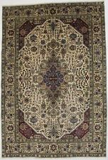 Traditional Geometric Vintage Cream 7X10 Hand Knotted Oriental Area Rug Carpet