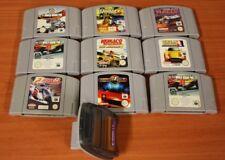 lot Nintendo 64 9 jeux loose voiture + transfer pak