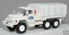 1/43 die cast russian military truck ZIL 131 UN flatbed with tent NIB