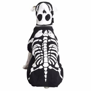 Halloween Casual Canine Spooky Bones Glow In The Dark Skeleton Costume XS-XL