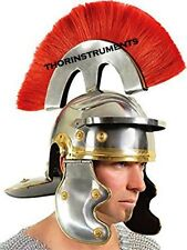 Roman  Centurion Helmet with Red Plume Armor  Costume  Helmet