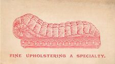 E. Morrill Furniture Co, 93 Washington St, Dover NH, Victorian Tradecard 1880's