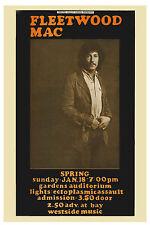 Fleetwood Mac Featuring Peter Green Concert Poster 1969