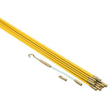 33' Ft Fiberglass Electric Cable Wire Running Kit for Wall Attic Ceiling Guide