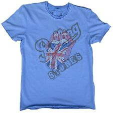 Amplified rolling stones union Jack uk langue rock vintage strass t-shirt G.M 48