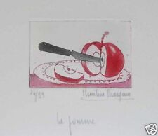"Christine Thouzeau ""la pomme"" Original Etching S/N"