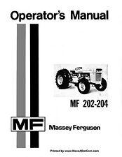 Ferguson Mf 202 204 Operators Manual Mf204