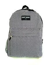 Backpack  School Pack Bag  Black White Checks Hiking Camp Camping Free Shipping