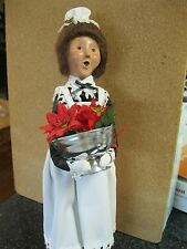 Byers Choice Caroler   WOMAN WITH FLOWERS   MAID