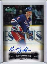 RON GRESCHNER 06/07 Parkhurst Auto Autograph #18 New York Rangers COA on Back
