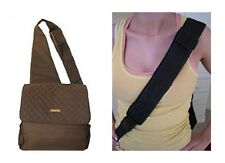 NEW Kecci Frizzi Sling Quilted Brown Diaper bag 3pc set Small Men or Women Mommy
