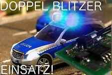 Einsatzfahrzeug Doppel LED Blitzer PLUG+PLAY Microcontroller Direkt an 8/12V=