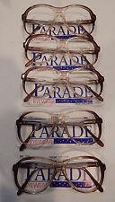 Vintage 5 pc. Parade Eyewear #1242 Tantone 59/16 Eyeglass Frame Lot NOS