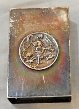 Vintage St. George Slaying Dragon Sterling Silver Match Safe by G.H. French