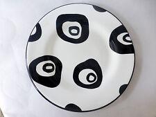 Tabletops Panda Eyes Hand Painted White w/Black Distorted Circles Salad Plates