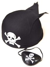 Covered Pirate Scarf and Pirate Eye cover for Halloween Birthday Christmas Party