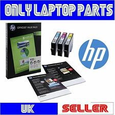 Genuine HP 935XL Cyan Magenta Yellow High Capacity Inks + 75 Sheets A4 Paper