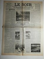 N485 La Une Du Journal Le Soir 3 août 1936 le drame international petit gazette