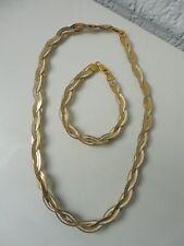 schönes,altes Schmuckset__Kette u.Armband__925 Silber teilvergoldet___!