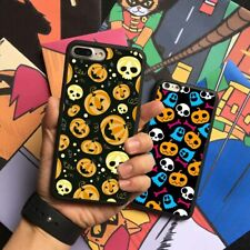 Halloween Witch Pumpkin Pattern Silicone Case Cover For iPhone Samsung Galaxy