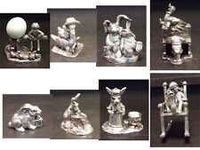 MICHAEL RICKER PEWTER SCULPTURE 8 lots rabbits  Make an Offer Hand Signed