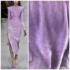 NEW Close-Out Designer Runway Lavender Purple Silk Rayon Velvet Fabric