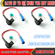3pcs MICRO2 BLADE FUSE ADAPTER STYLE TAP ADD-A-CIRCUIT ATR FUSE HOLDER
