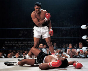 1965 Title Fight MUHAMMAD ALI vs SONNY LISTON 8x10 Vintage Boxing Photo Print