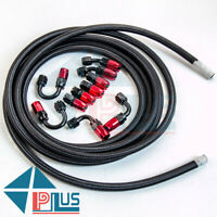 AN6-6AN 16.4FT Nylon Stainless Steel Braided Oil Fuel Line&Fitting Hose Kit