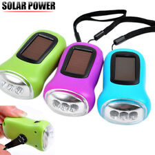 Fddt Flashlights & Torches Portable Lighting 10x Mini Solar Power Rechargeable 3led Flashlight Keychain Light Torch Ring