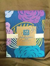 Pottery Barn Teen Chloe Floral Organic Bed Dorm Duvet Cover Full Queen FQ Blue