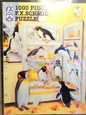Vtg Fx Schmid 1996 Penguin Puzzle Refridgeraiders 1000 Pieces Model 90101 Sealed