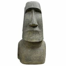 Osterinsel Moai Figur Skulptur Stein Lavasand Bali Tiki Garten Hawaii Deko 96cm