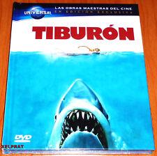TIBURON / JAWS Steven Spielberg - English Español DVD R2 - DVD+ LIBRO PRECINTADA